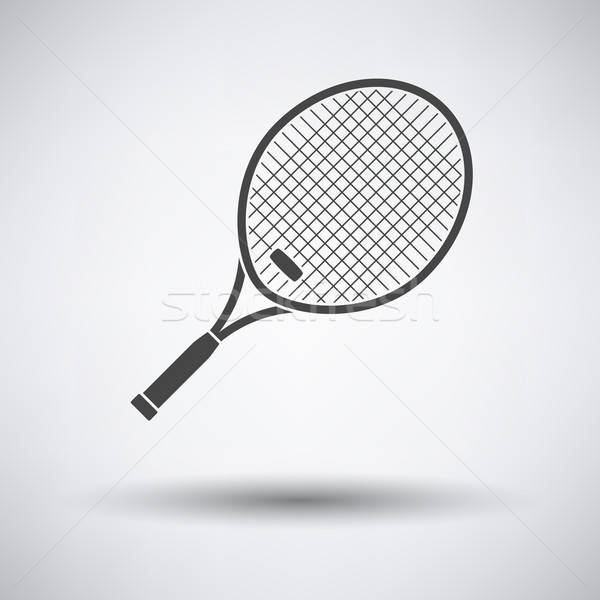 Tennisracket icon grijs sport ontwerp kleur Stockfoto © angelp