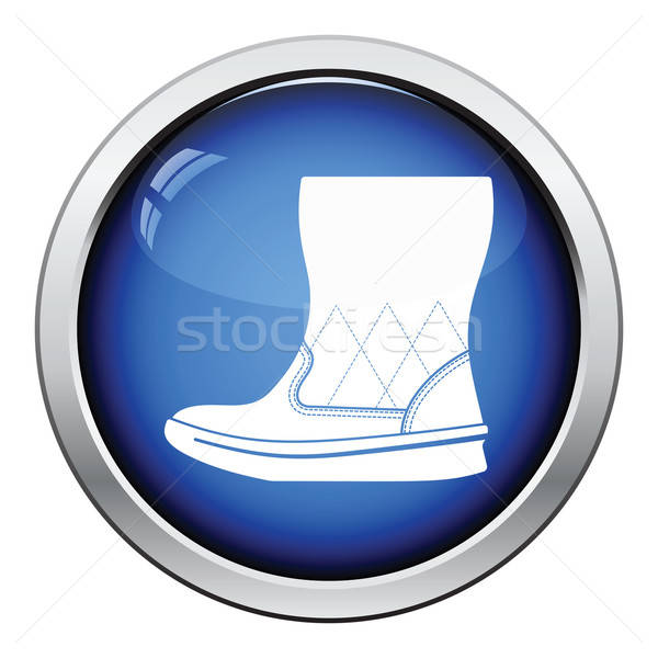 Woman fluffy ugg boot icon Stock photo © angelp