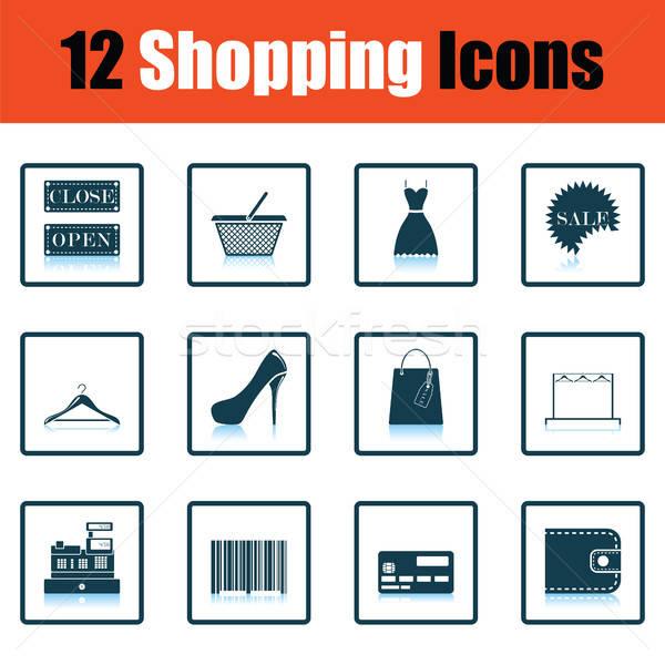 Shopping icon set Stock photo © angelp