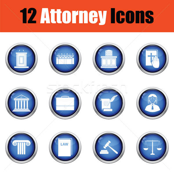Set of attorney  icons.   Stock photo © angelp