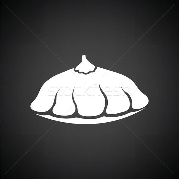Bokor sütőtök ikon feketefehér étel természet Stock fotó © angelp
