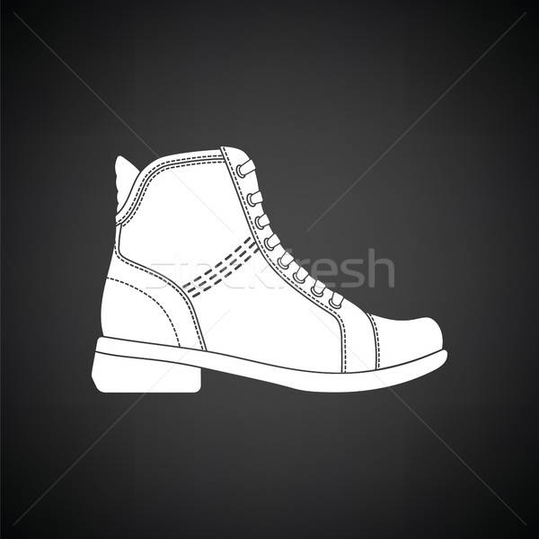 Woman boot icon Stock photo © angelp