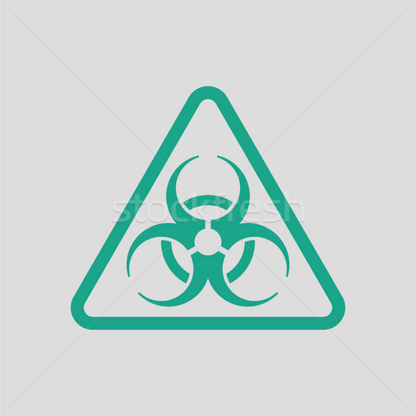 Icon of biohazard Stock photo © angelp