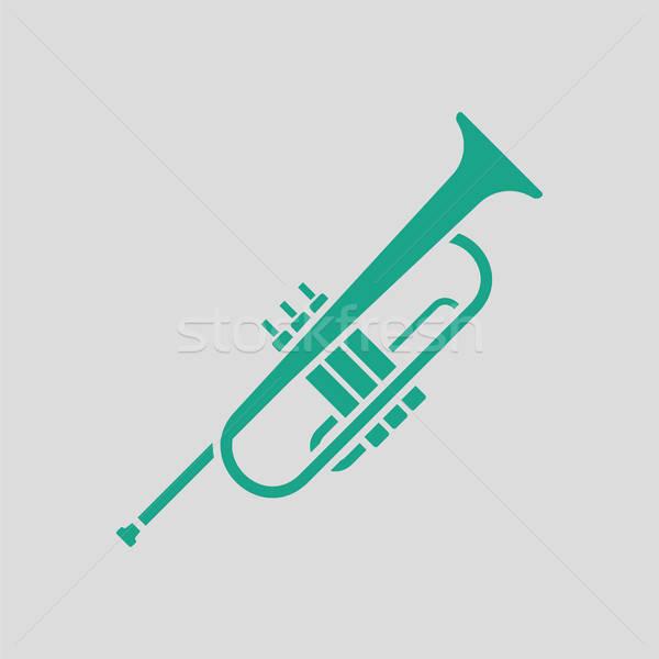 Duda ikon szürke zöld absztrakt dzsessz Stock fotó © angelp