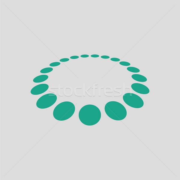 Boncuk ikon gri yeşil alışveriş alışveriş Stok fotoğraf © angelp