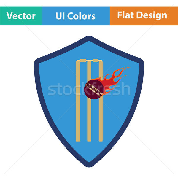 Cricket shield emblem icon Stock photo © angelp