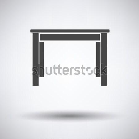 Yemek masası ikon gri mutfak tablo akşam yemeği Stok fotoğraf © angelp