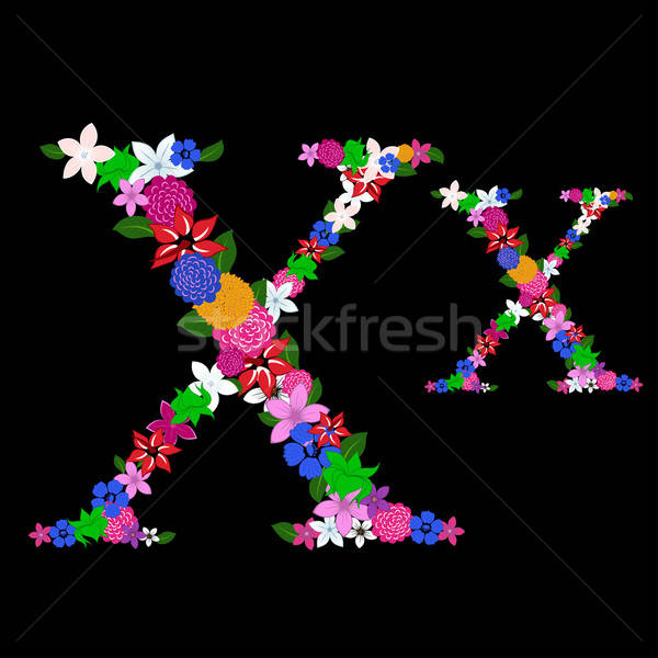 floral letter Stock photo © angelp