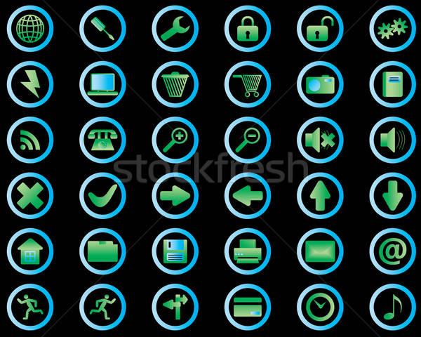 Stockfoto: Collectie · verschillend · iconen · web · design · business