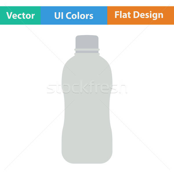 Flat design icon of Water bottle  Stock photo © angelp