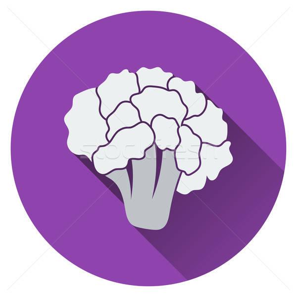 Couve-flor ícone comida projeto vegetal fresco Foto stock © angelp