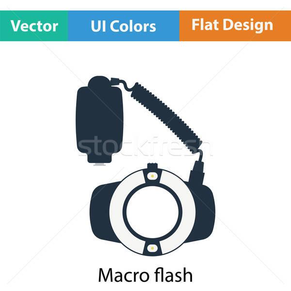 икона портативный круга макроса Flash цвета Сток-фото © angelp