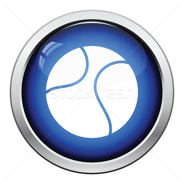 Tennisbal icon glanzend knop ontwerp sport Stockfoto © angelp
