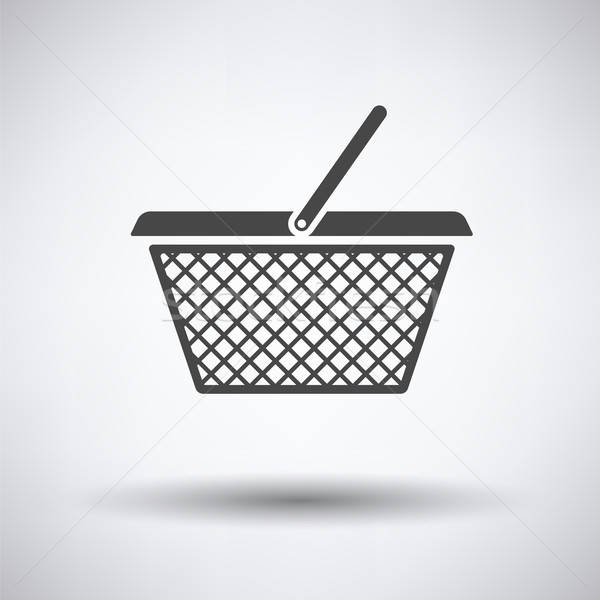 Bevásárlókosár ikon szürke internet piros bolt Stock fotó © angelp