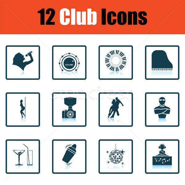 Set of twelve Night club icons Stock photo © angelp
