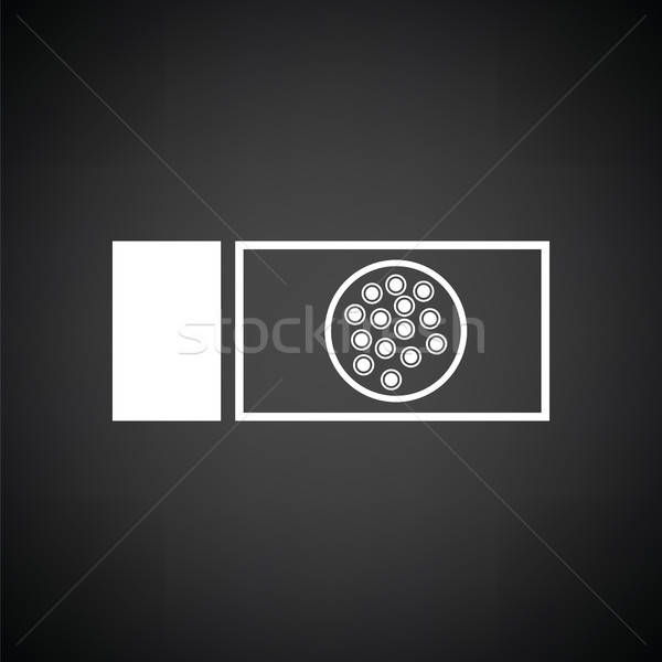 Bacterium glass icon Stock photo © angelp