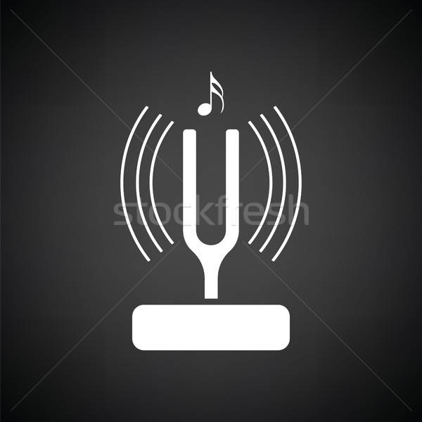 Tuning fork icon Stock photo © angelp