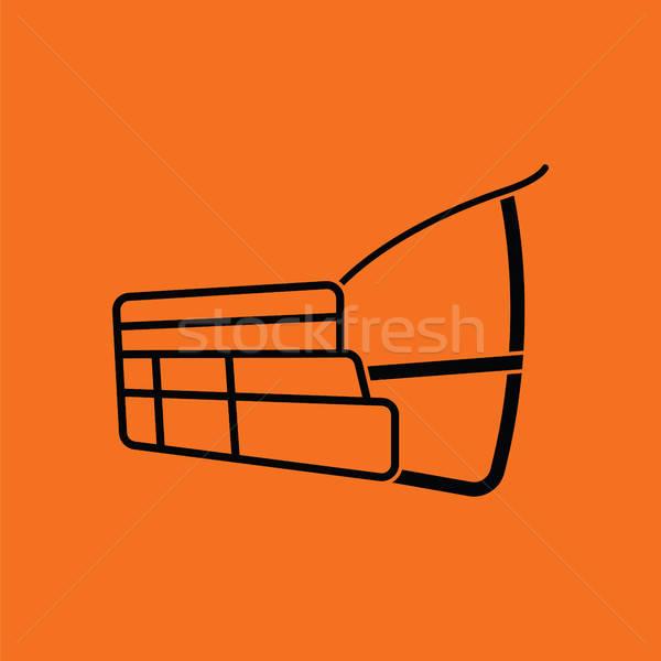 Psa kaganiec ikona pomarańczowy czarny bezpieczeństwa Zdjęcia stock © angelp