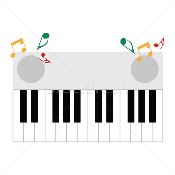 Piano keyboard icon Stock photo © angelp