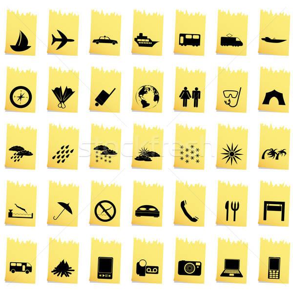 Stok fotoğraf: Taşımacılık · ayarlamak · farklı · vektör · web · simgeleri