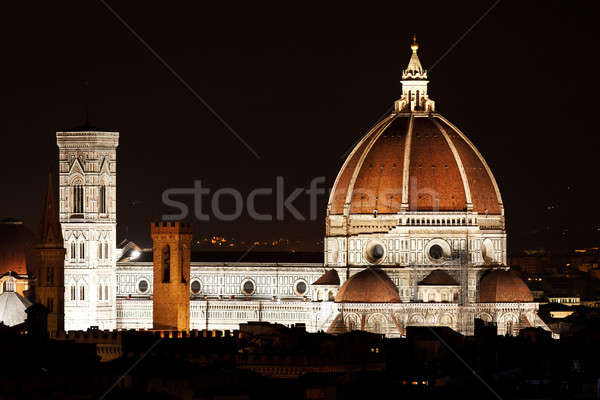 Nuit vue FLORENCE Italie Europe Photo stock © angelp