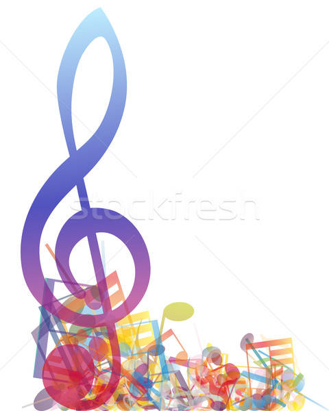 Multicolour  musical notes Stock photo © angelp