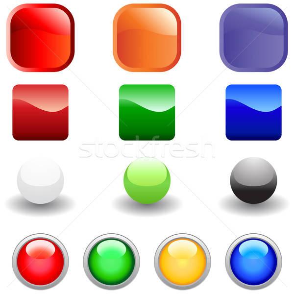 веб Кнопки набор вектора Интернет Кнопки Сток-фото © angelp