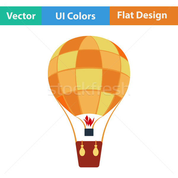 Flat design icon of hot air balloon Stock photo © angelp