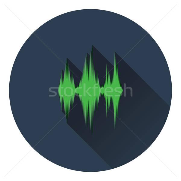 Müzik ekolayzer ikon disko radyo ses Stok fotoğraf © angelp