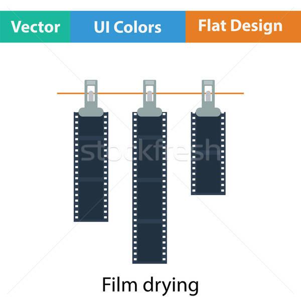 Stockfoto: Icon · foto · film · touw · wasknijper · kleur