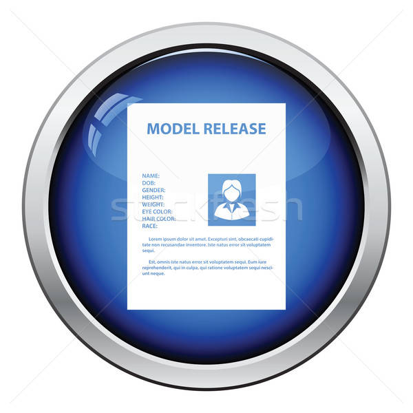 Icon of model release document Stock photo © angelp
