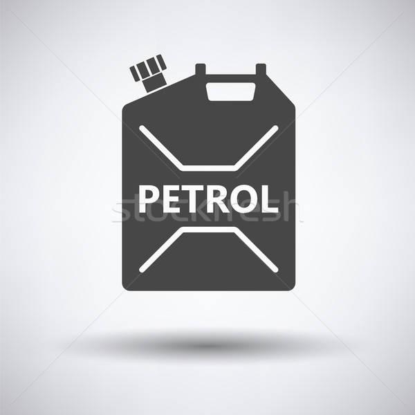 Combustible icono gris coche petróleo botella Foto stock © angelp