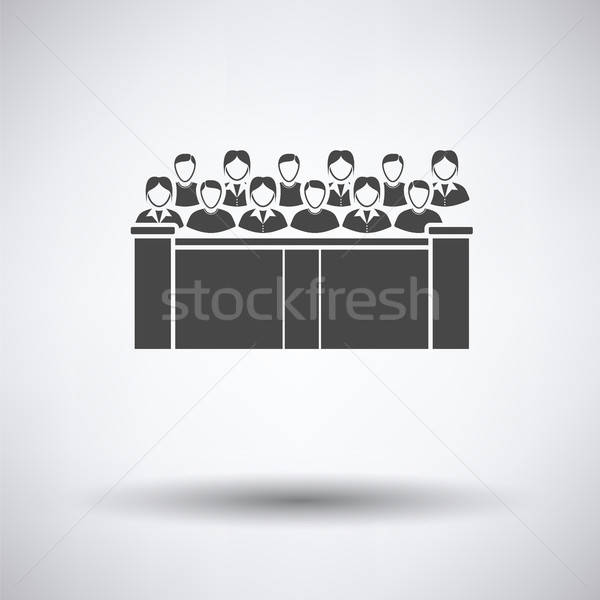 Jury icon Stock photo © angelp