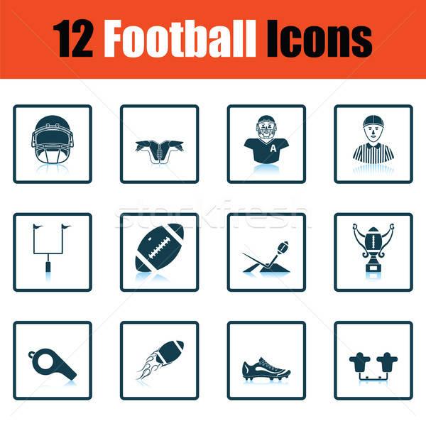Amerikan futbol ikon gölge yansıma dizayn Stok fotoğraf © angelp
