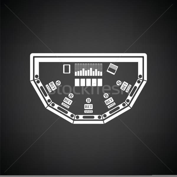 Poker table icon Stock photo © angelp