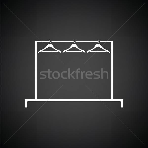 Ropa rail icono blanco negro moda fondo Foto stock © angelp