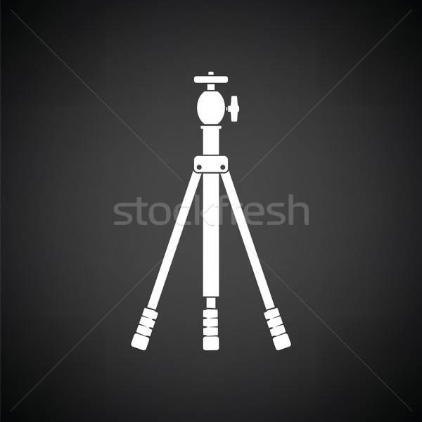 Symbol Foto Stativ schwarz weiß Technologie Video Stock foto © angelp