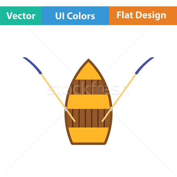 Paddle boat icon Stock photo © angelp