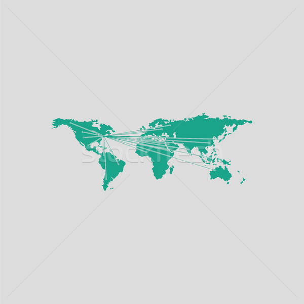 Map with directions to all part of the World Stock photo © angelp