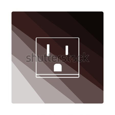 USA electrical socket icon Stock photo © angelp