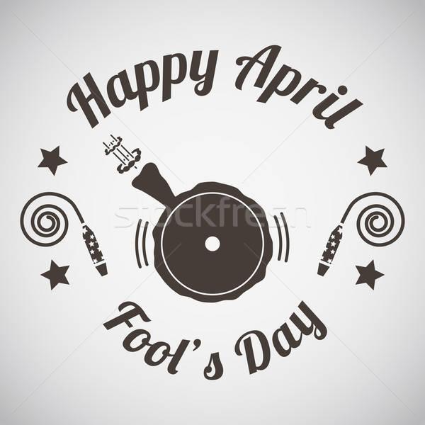 April fool's day emblem  Stock photo © angelp