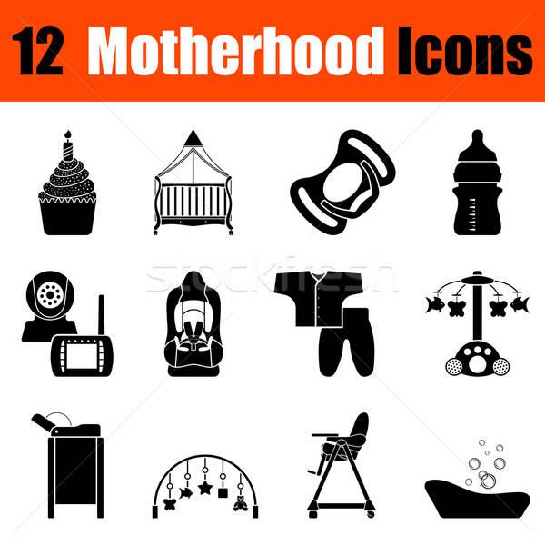 Set of motherhood icons Stock photo © angelp