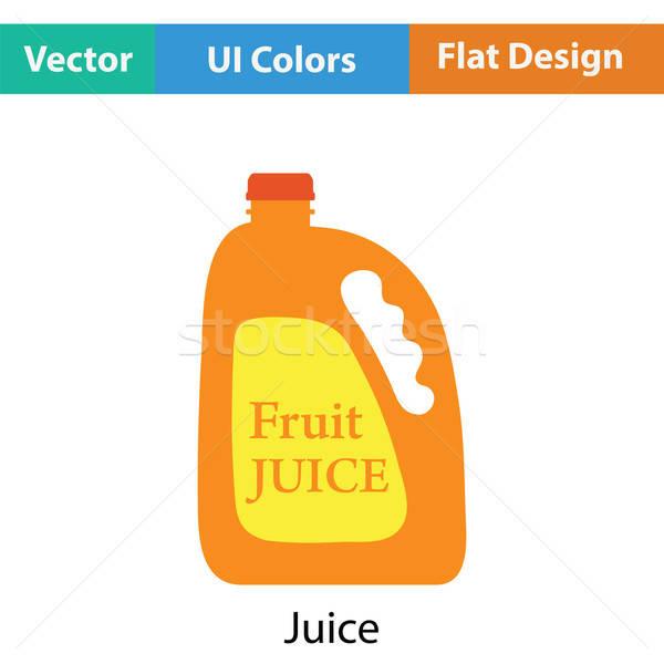 Stock fotó: Gyümölcslé · ikon · szín · terv · étel · gyümölcs