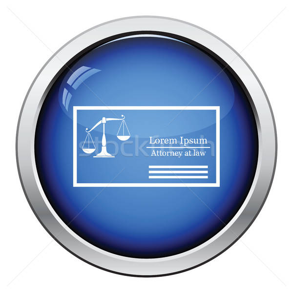 Lawyer business card icon Stock photo © angelp