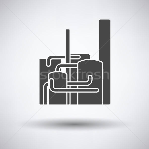Chemische plant icon grijs business bouw Stockfoto © angelp