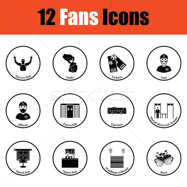Set of soccer fans icons Stock photo © angelp