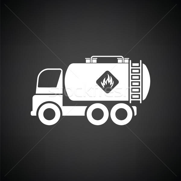 Fuel tank truck icon Stock photo © angelp