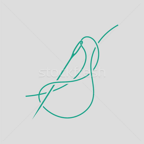 Sewing needle with thread icon Stock photo © angelp