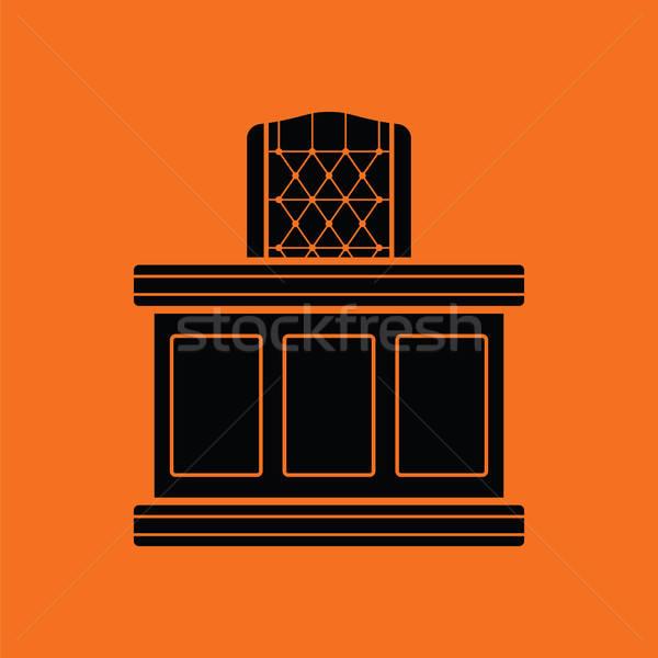 裁判官 表 アイコン オレンジ 黒 オフィス ストックフォト © angelp