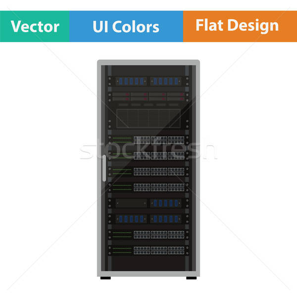 Rack de serveur icône affaires ordinateur internet design Photo stock © angelp